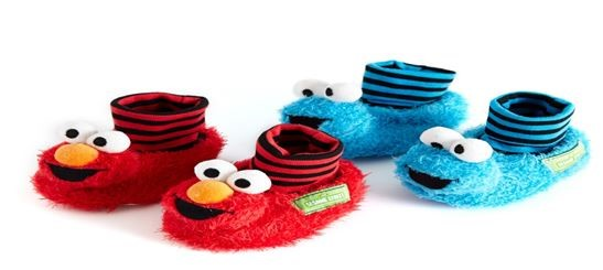 Dunnes Stores Elmo Cookie Monster slippers