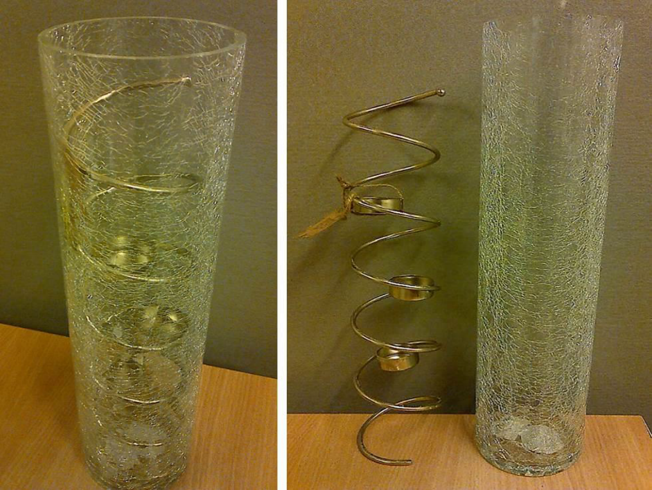 TK Maxx glass candle holder