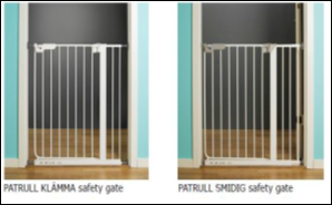 Ikea pressure mounted safety gates