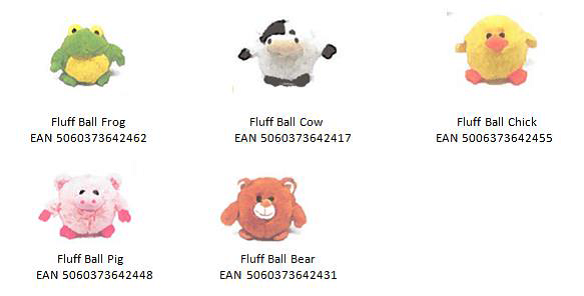 Tesco Fluff Ball Soft Toys