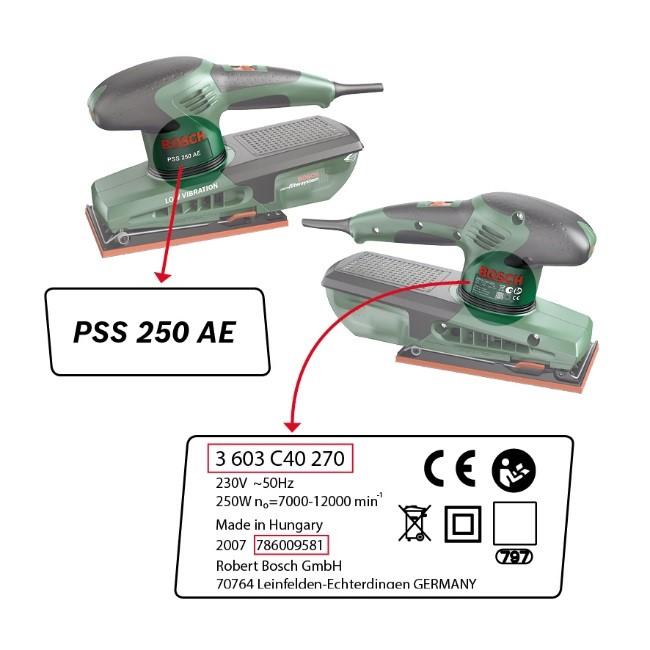 Bosch PSS series sanders