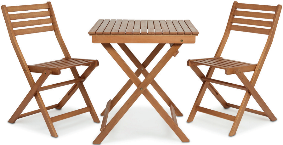 Angelina wooden 2 seater bistro table and chairs