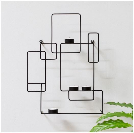 Solstrene Grene Wallhanger Iron Tealight Holder