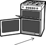 Gas cooker safety warning