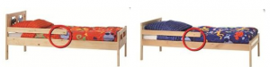 IKEA KRITTER and SNIGLAR junior beds