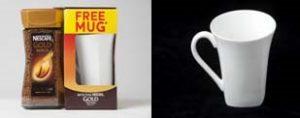 Nescafé white promotional mug